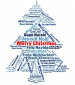 Word Cloud With merry Christmas In Different Languages poster