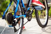 view of a mountain bike