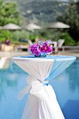 Colourful Poolside Wedding Table