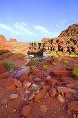Geological rocks in canyonland