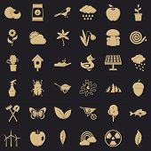 Gardening Stuff Icons Set. Simple Style Of 36 Gardening Stuff Icons For Web For Any Design poster