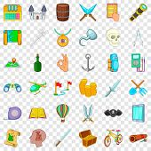 Archeology Icons Set. Cartoon Style Of 36 Archeology Icons For Web For Any Design poster