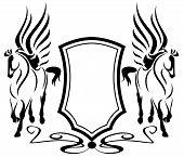 heraldic pegasus