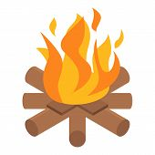 Campfire Icon. Isometric Of Campfire Icon For Web Design Isolated On White Background poster