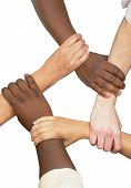 foto of helping others  - Multiracial hands holding each other in unity - JPG
