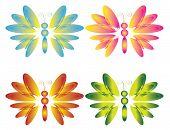 Four butterflies , vector.