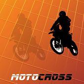 Vector Motocross achtergrond