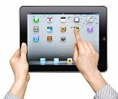 Ipad In Female Hand