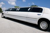 weiß Stretch limo