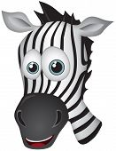 Zebra Vector Cartoon Illustration