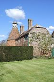 Old English House With Dovecote
