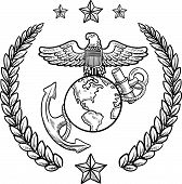 foto of lapel  - Doodle style military rank insignia for US Marine Corps - JPG