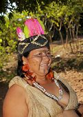 Brazilian Indian Woman In Typical Costumes