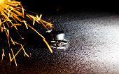 Wedding Rings. Wedding Rings With Sparks.a Diamond Ring In The Middle. poster