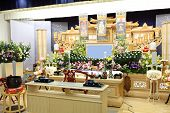 image of funeral home  - Funeral held at general home in Japan - JPG