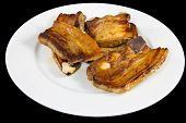 Cooked Pork On Plate