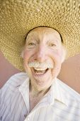 Senior Citizen-Man In einen Cowboy-Hut