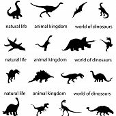 Silhouettes Of Dinosaurs Paleontology Predator History Ancient World Archeology Carnivorous Dinosaur poster