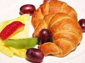 Croissant With Fresh Fruits