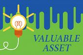Handwriting Text Valuable Asset. Concept Meaning Your Most Valuable Asset Is Your Ability Or Capacit poster