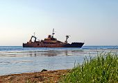 pic of sakhalin  - Depot ship which has sunk - JPG