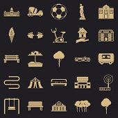 Borough Icons Set. Simple Set Of 25 Borough Icons For Web For Any Design poster