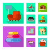 Vector Design Of Comfort And Equipment Icon. Set Of Comfort And Furniture Stock Vector Illustration. poster