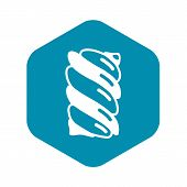 Swirl Candy Stick Icon. Simple Illustration Of Swirl Candy Stick Icon For Web Design Isolated On Whi poster