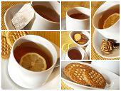 Tea collage
