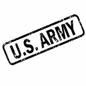 United States Army Grunge Rubber Stamp On White Background, United States Army Stamp Sign. Us Army S poster