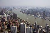 Vista en Shanghai de la Torre Jin Mao