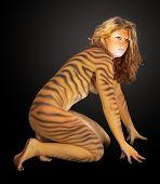 Tiger Frau