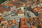 Aerial view of Brasov city, Romania