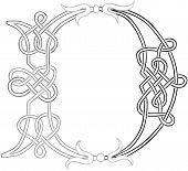 Celtic Knot-work Capital Letter D
