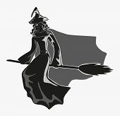 Monochrome Figure Of Witch