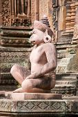 Monkey god statue, Banteay Srei Temple, Cambodia