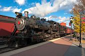 foto of meals wheels  - The steam engine train arrives the station - JPG