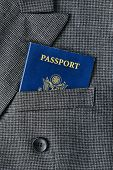 United States Citizenship Passport In Suit Pocket