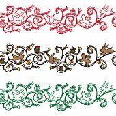 Christmas reindeer banner seamless