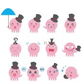Cute Octopus emotional icons