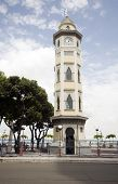 image of guayaquil  - moorish style clock tower guayaquil ecuador south america on malecon 2000 and 10 de agosto avenue - JPG