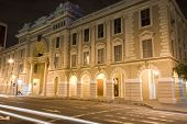 stock photo of guayaquil  - government palace office guayaquil ecuador by malecon 2000 night scene - JPG