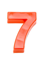 stock photo of number 7  - object on white  - JPG