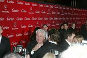 PALM SPRINGS, CA - JAN 5: Richard Gere greets Bradley Cooper (turned) in front of the press during 2