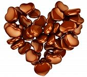 heart shape chocolate as gift for Valentine's Day