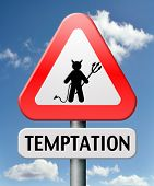temptation resist from devil lose bad habits by self control road sign with text