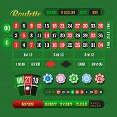 stock photo of roulette table  - American Roulette Online - JPG