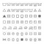 Wäscheservice-Symbole. Vektor.