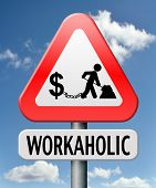 workaholic money slave working hard to earn income by doing over time in a difficult job like in sla