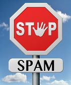 pic of spam  - stop spam no spamming mail internet abuse - JPG